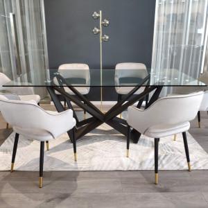 SI TONY design üveglapos étkezőasztal
