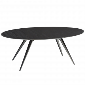 DF HANS TABLE OVAL BLACK