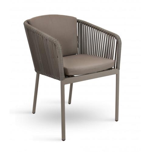 Bézs kültéri rattan szék