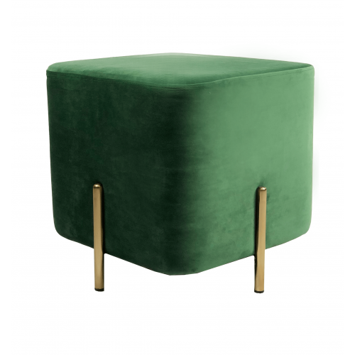 DL RUBIK POUF GREEN GOLD LEGS