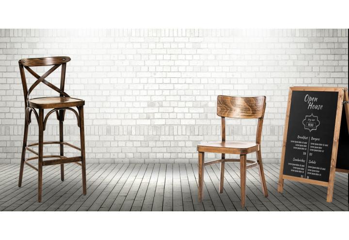 Jól megválasztott fa szék és fa bárszék kombinációkkal újraálmodhatja vendéglátóhelyét