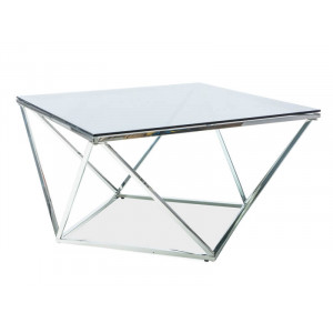 Design ezüst dohányzóasztal