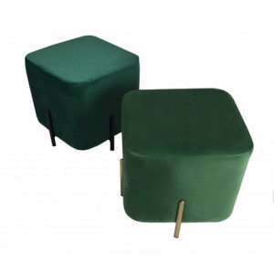 DL RUBIK POUF DARK GREEN
