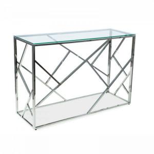 Ezüst design konzolasztal